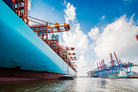 Stock Image Cargo Ship at Hamburg Port