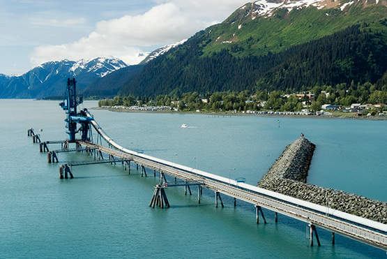 Stock Image Trans-Alaskan Oil Pipeline at Port of Seward