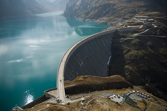 Stock Image Water Retention Dam in Austria